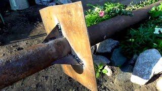 Монтаж самодельной печки в баню/ Production and installation of the sauna oven.