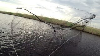 Рыбалка на кастинговую сеть. Разнорыбье.