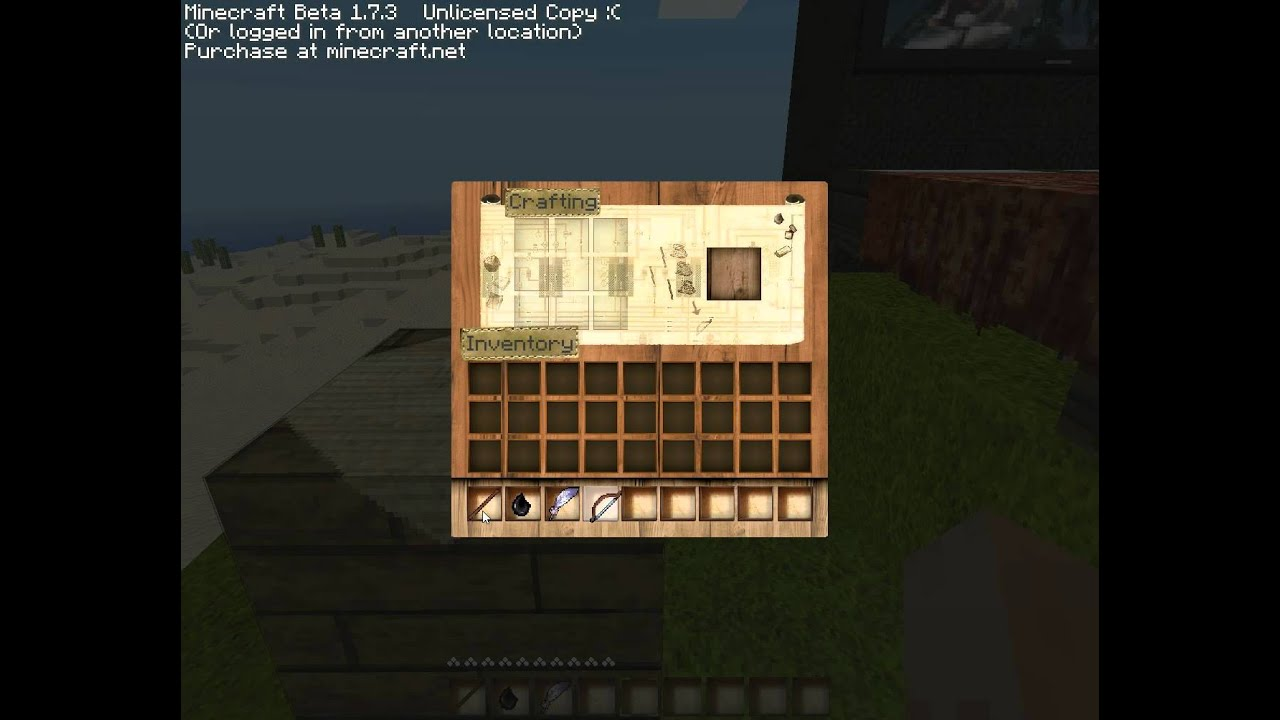 minecraft wie baut man ein bogen und pfeile youtube. Black Bedroom Furniture Sets. Home Design Ideas
