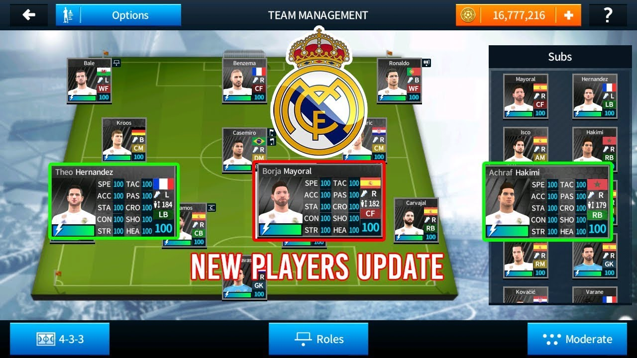 7651e5e5bc7 REAL MADRID 2018 NEW PAYERS UPDATED - DREAM LEAGUE SOCCER 2018 HACK ...