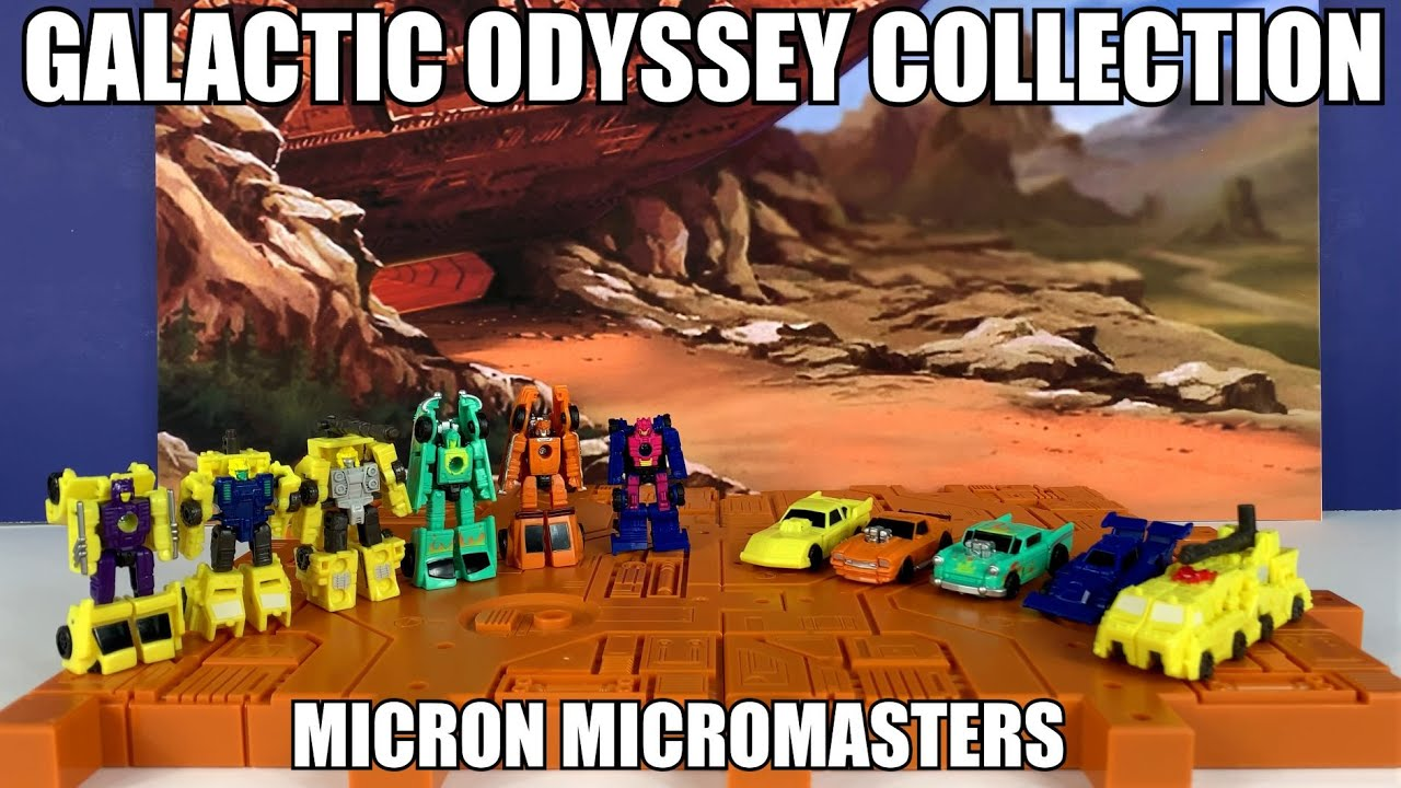 Transformers Galactic Odyssey Micron Micromasters Unboxing and Review By Enewtabie