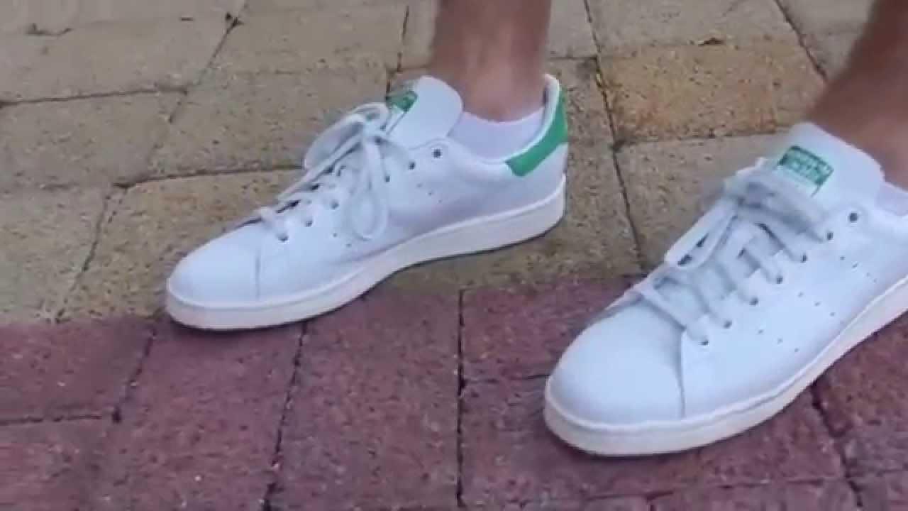 Adidas Stan Smith Green On Feet