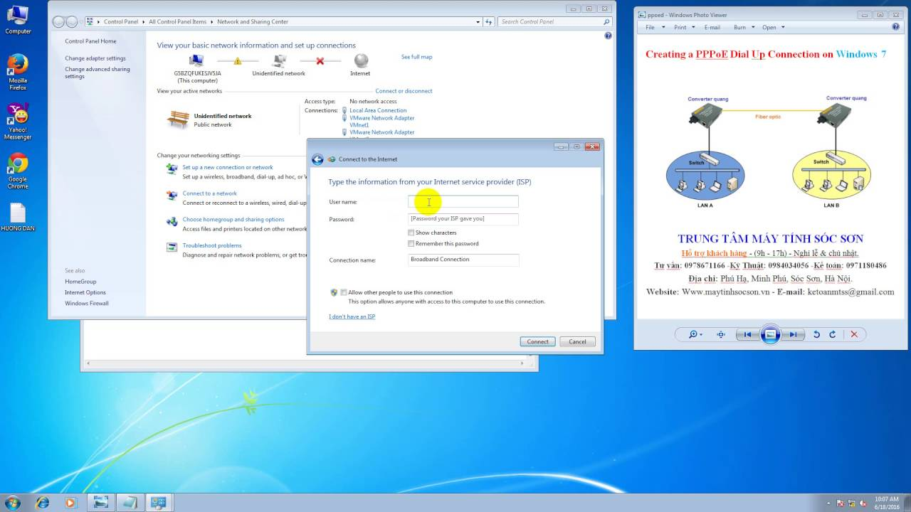 How to connect to internet by using windows 7 built in pppoe wizard - Setting Up A Pppoe Connection In Windows 7
