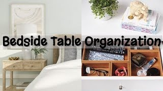 NIGHTSTAND OR BEDSIDE TABLE ORGANIZATION– Basic Must-Haves In Your Bedside Table (Home Organizing)