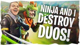 NINJA AND I DESTROY DUOS! (Fortnite: Battle Royale)