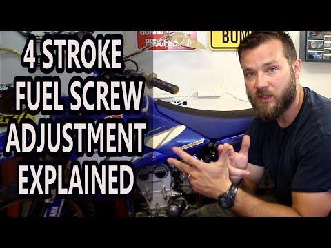 How to adjust idle on 4 stroke dirt bikes - fuel screw adjustment