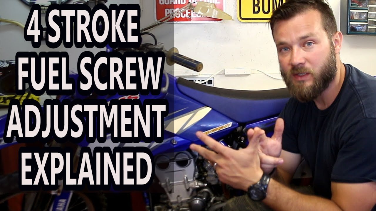 How To Adjust Idle On 4 Stroke Dirt Bikes Fuel Screw Adjustment Motorcycle Engine Diagram