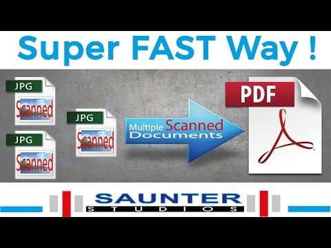 Multiple Scanned Documents Into Single PDF