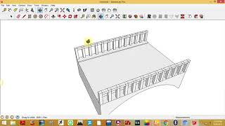 Google sketchup simple bridge tutorial within 10 minutes by CH.SHOIAB AKHTAR   YouTube