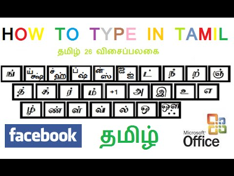 How to type Tamil in Laptop / PC using Keyboard. (Direct Tamil Typing)