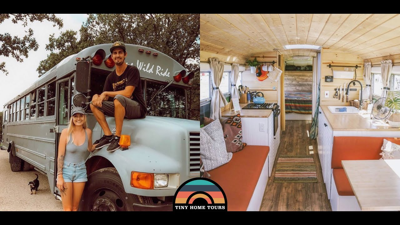 Tiny Home Designs: Couple Builds A Gorgeous School Bus Tiny House