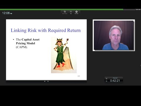 The Discount Rate for Financial Securities (Risk and Return), James Tompkins