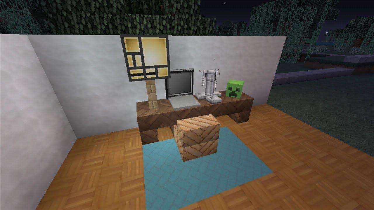 Como hacer un escritorio con computadora en minecraft xbox - Como hacer una mesa escritorio ...