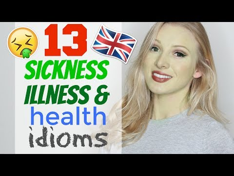 13 IDIOMS for ILLNESS, SICKNESS & HEALTH | English Vocabulary Lesson #Spon