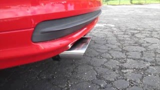 bmw e46 323i muffler resonator delete exhaust outside inside