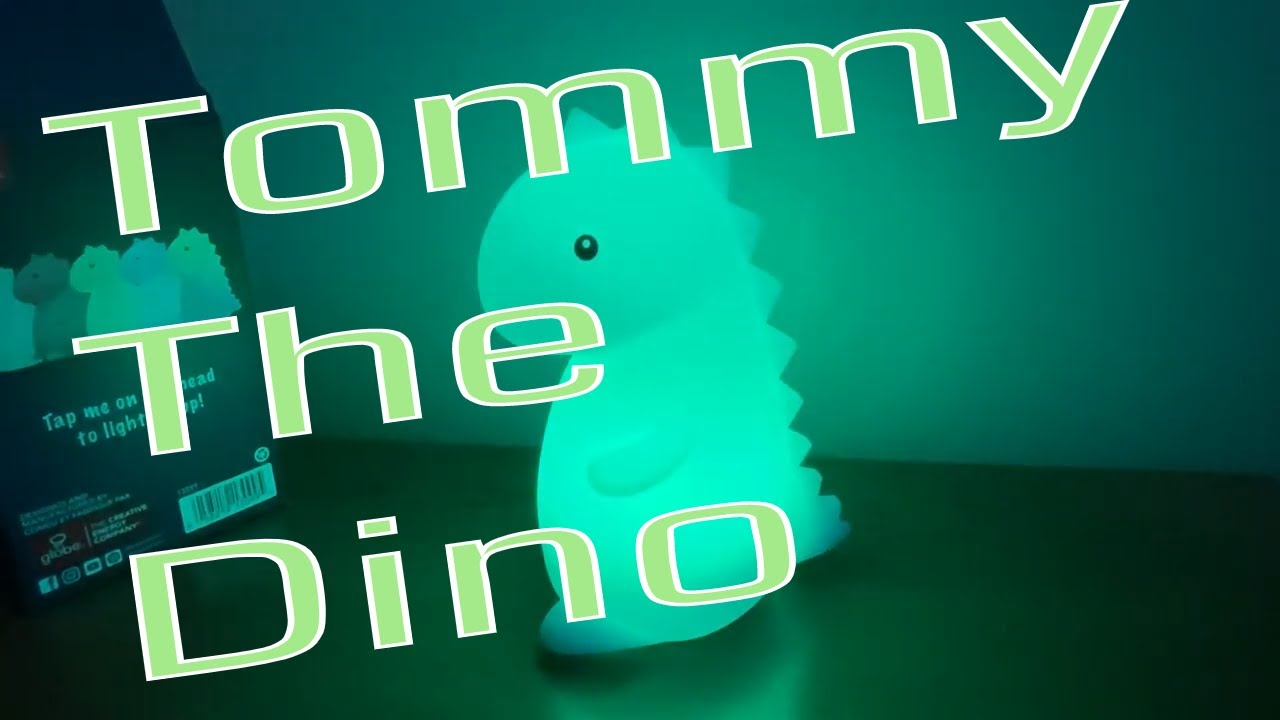 Tommy the Dinosaur White Multi-Color Changing Integrated LED TikTok Night Light