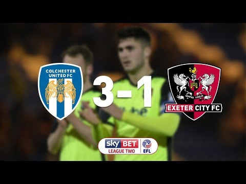 Colchester United 3 Exeter City 1 (9/12/17) EFL Sky Bet League 2