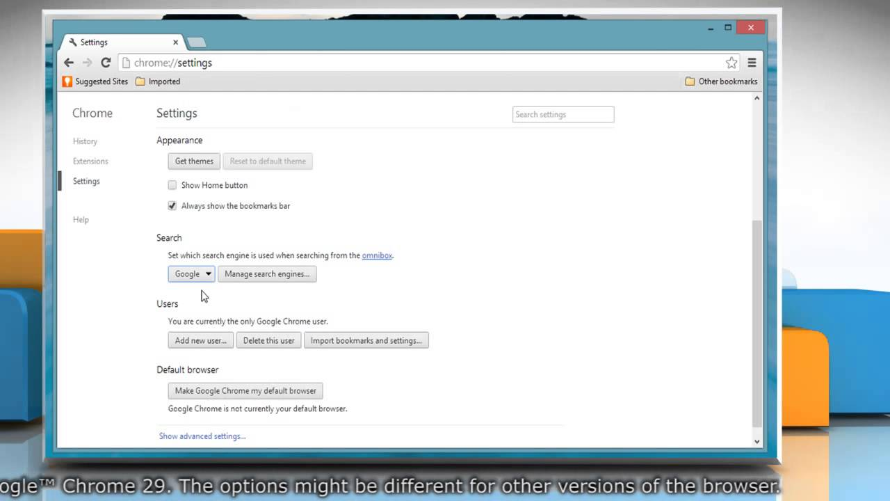 Google themes for pc - How To Set Default Search Engine In Google Chrome On Windows 8 1 Pc