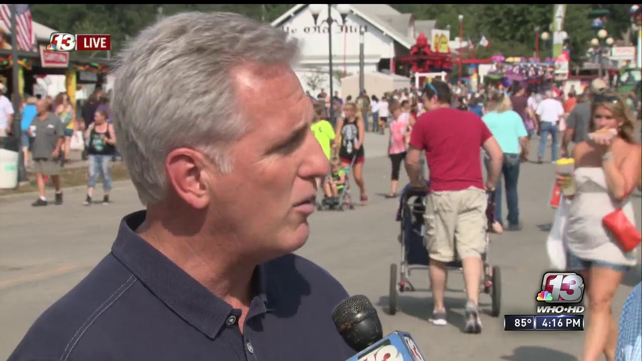 Kevin McCarthy, David Young at Iowa State Fair - YouTube