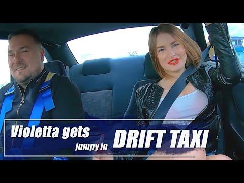 Violetta Gets Jumpy In Drift Taxi