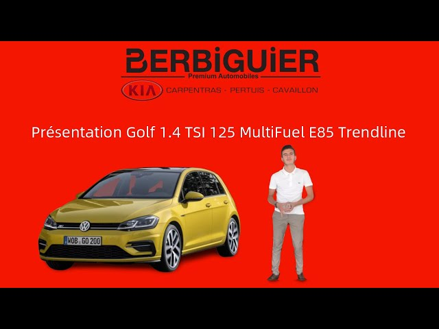Présentation Volkswagen Golf 7 Golf 1.4 TSI 125 MultiFuel E85 Trendline