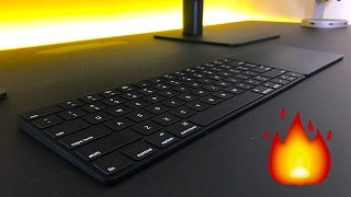 Custom Matte Black Apple Keyboard + Trackpad!