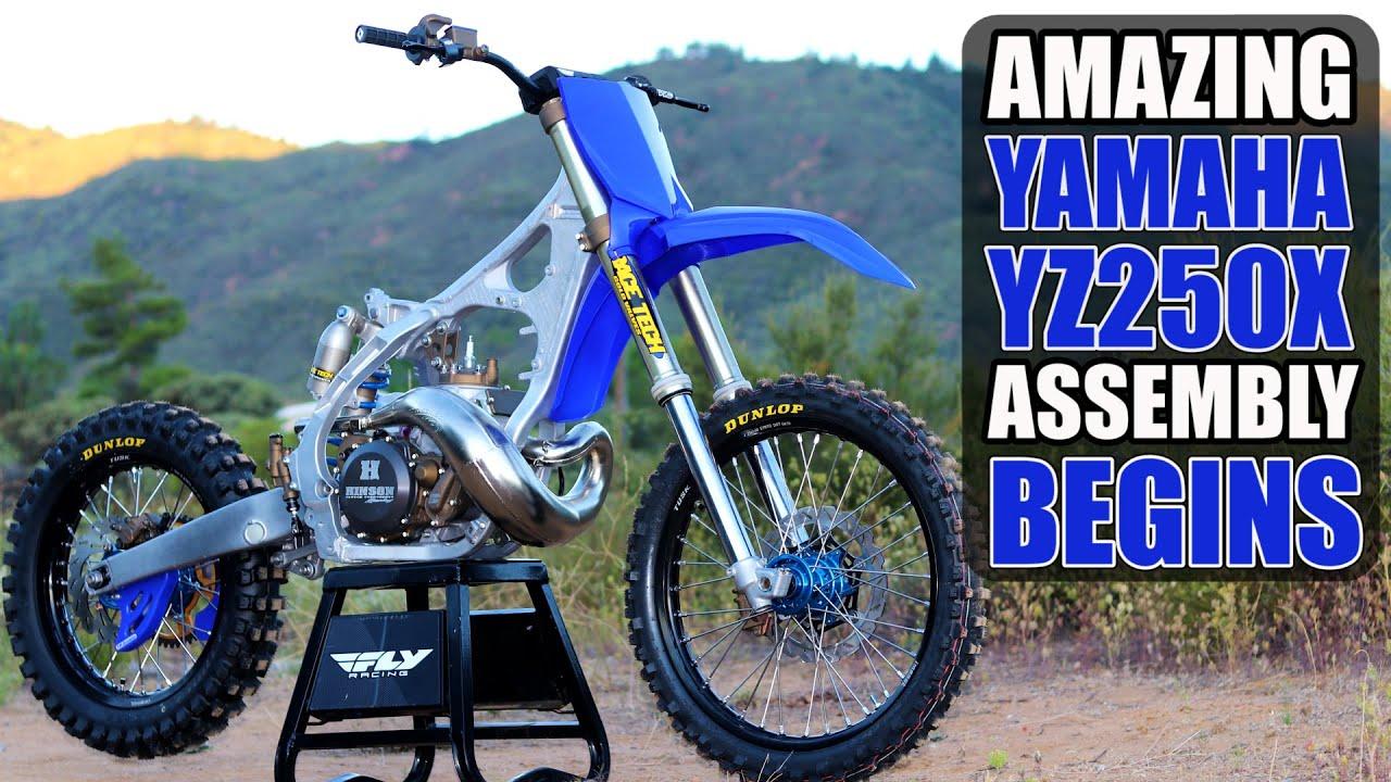Yamaha YZ250 offroad dirt bike build - assembly.