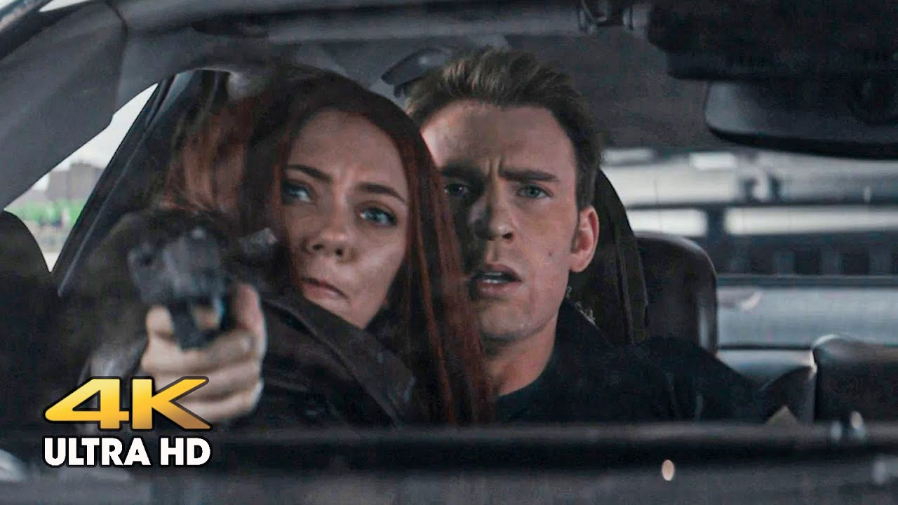 Download The Winter Soldier intercepts Captain America and his friends on the highway