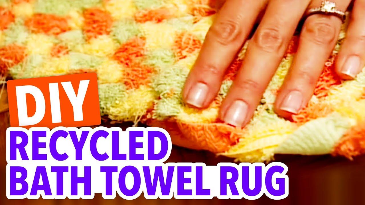 Recycled Bath Towel Rug   Throwback Thursday   HGTV Handmade