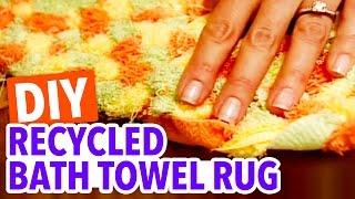 Recycled Bath Towel Rug - Throwback Thursday - HGTV Handmade thumbnail