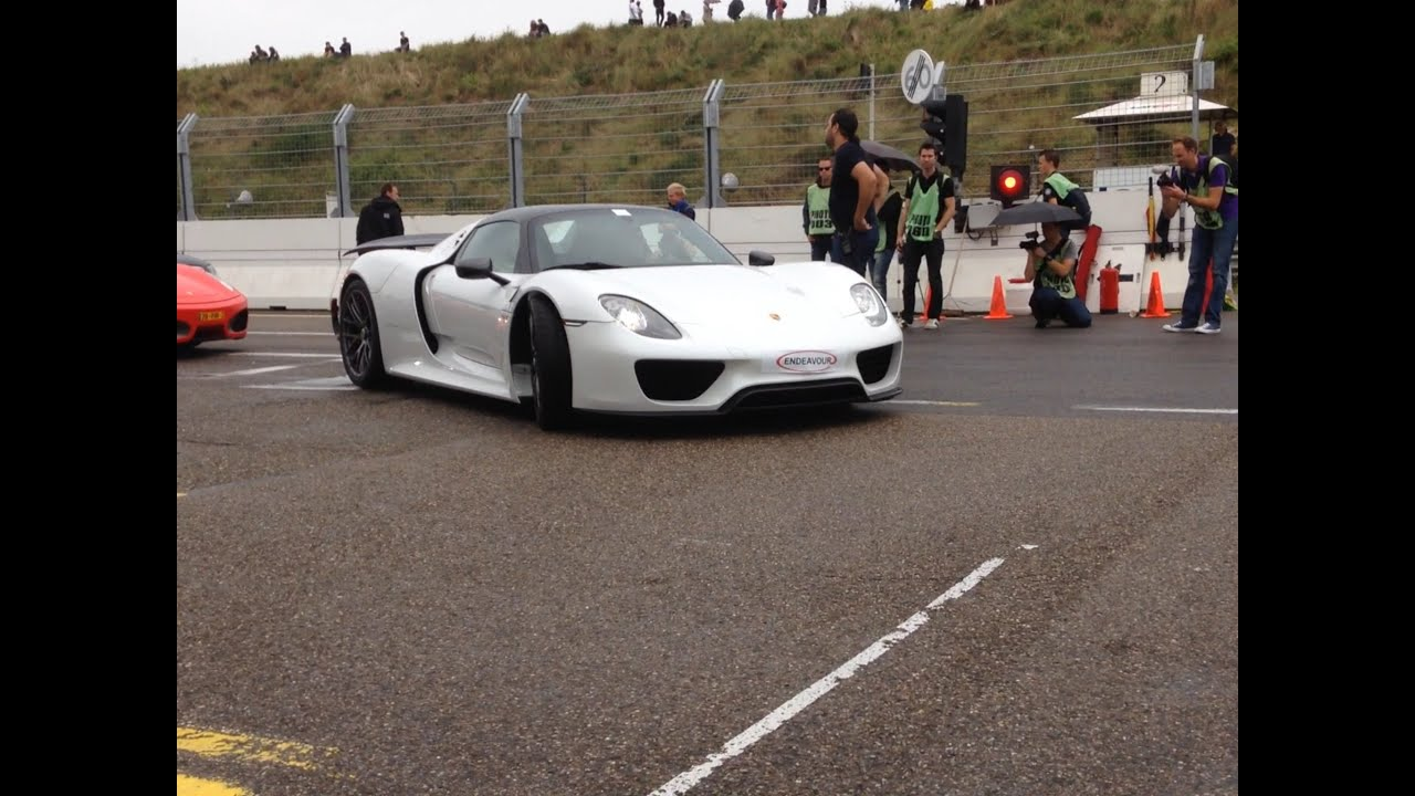 porsche 918 spyder in white youtube - Porsche 918 Spyder White