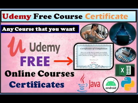 Udemy Free Course Certificate | Online Free Udemy Course | Free Best Udemy Course Certificate