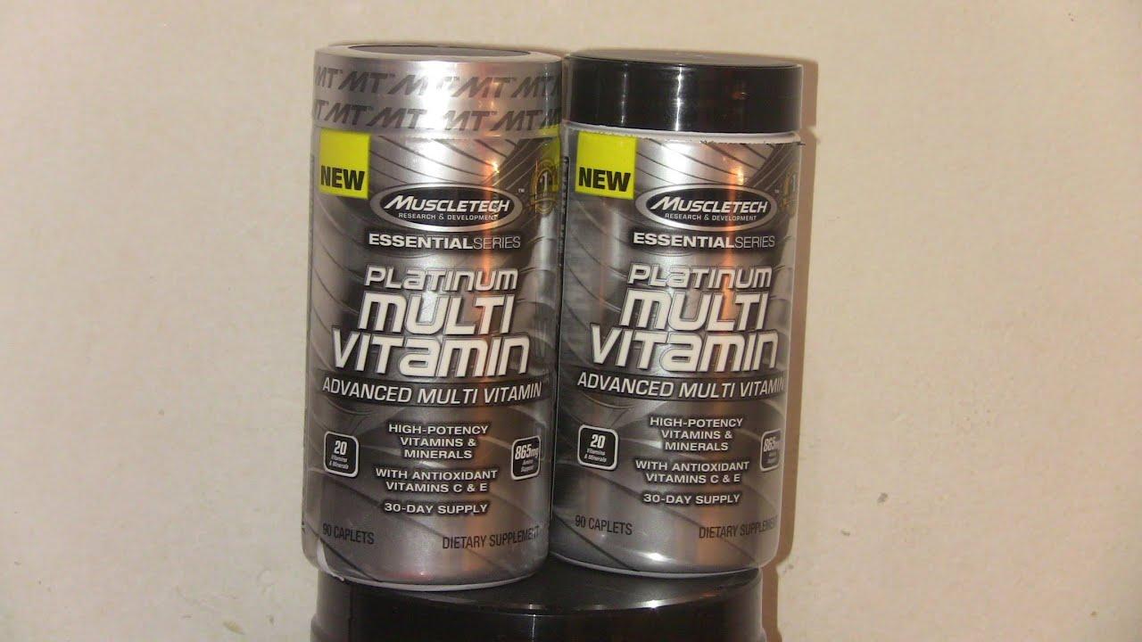unboxing 15 muscletech platinum multi vitamin youtube