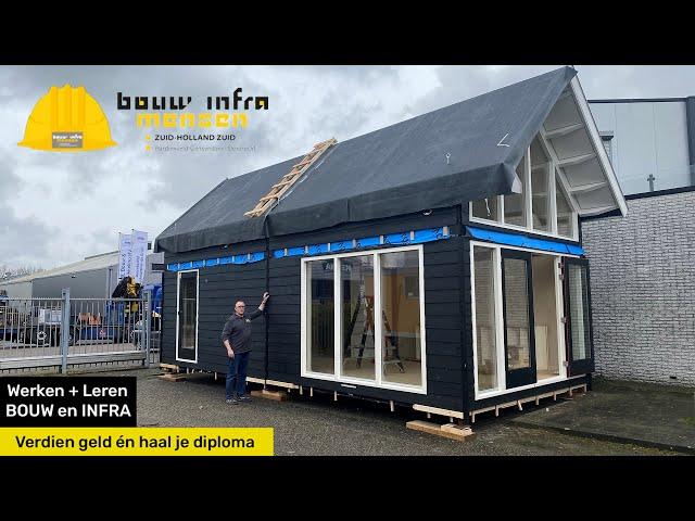 Tiny House project van Bouw- en Inframensen en Da Vinci College