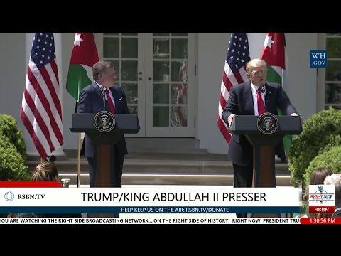 President Trump Press Conference with Jordan's King Abdullah II