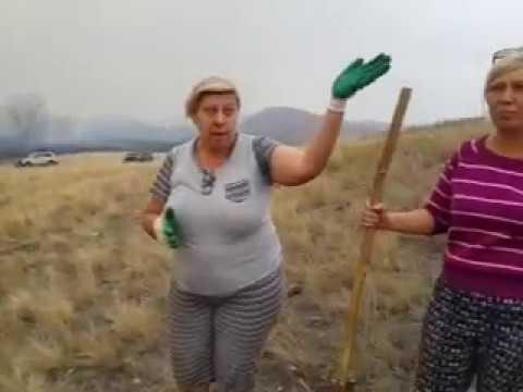 О том, кто и как тушил пожар в Рысаево (Медногорск)-1 17.09.2018