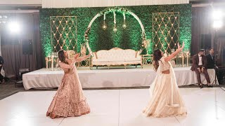 Suit Suit- Indian Wedding Sisters & Family Reception Dance- Chamma Chamma | First Class | Dil Chori