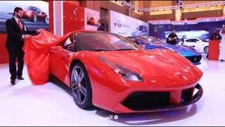"""فيراري GTB 488 الجديدة تكشف نفسها في السعودية """"تقرير وفيديو ومواصفات وصور"""" Ferrari 2016"""