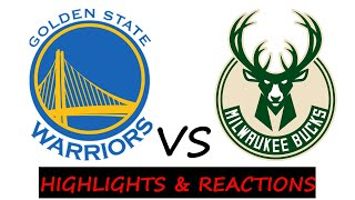 LIVE NBA stats and Reactions GOLDEN STATE WARRIORS vs MILWAUKEE BUCKS