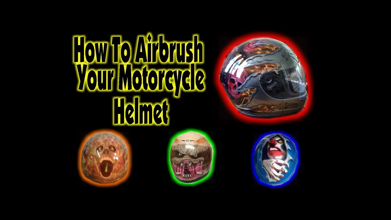 How to airbrush your motorcycle helmet youtube solutioingenieria Gallery