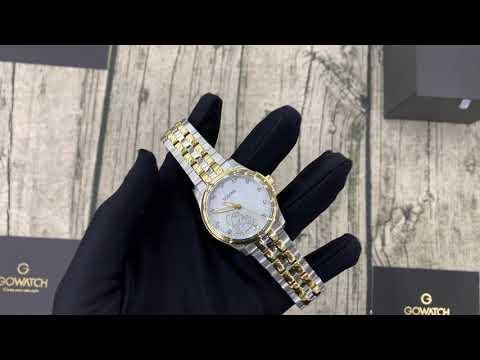 Bulova 98P152 Classic Diamonds Gold Tone Ladies Watch 33mm