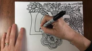 ASMR LOVE Doodle (ASMR, sounds only, relaxing, doodle, zentangle, YouTube, video)