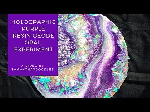 Holographic Purple Resin Geode Opal Experiment by SamanthasDoodles