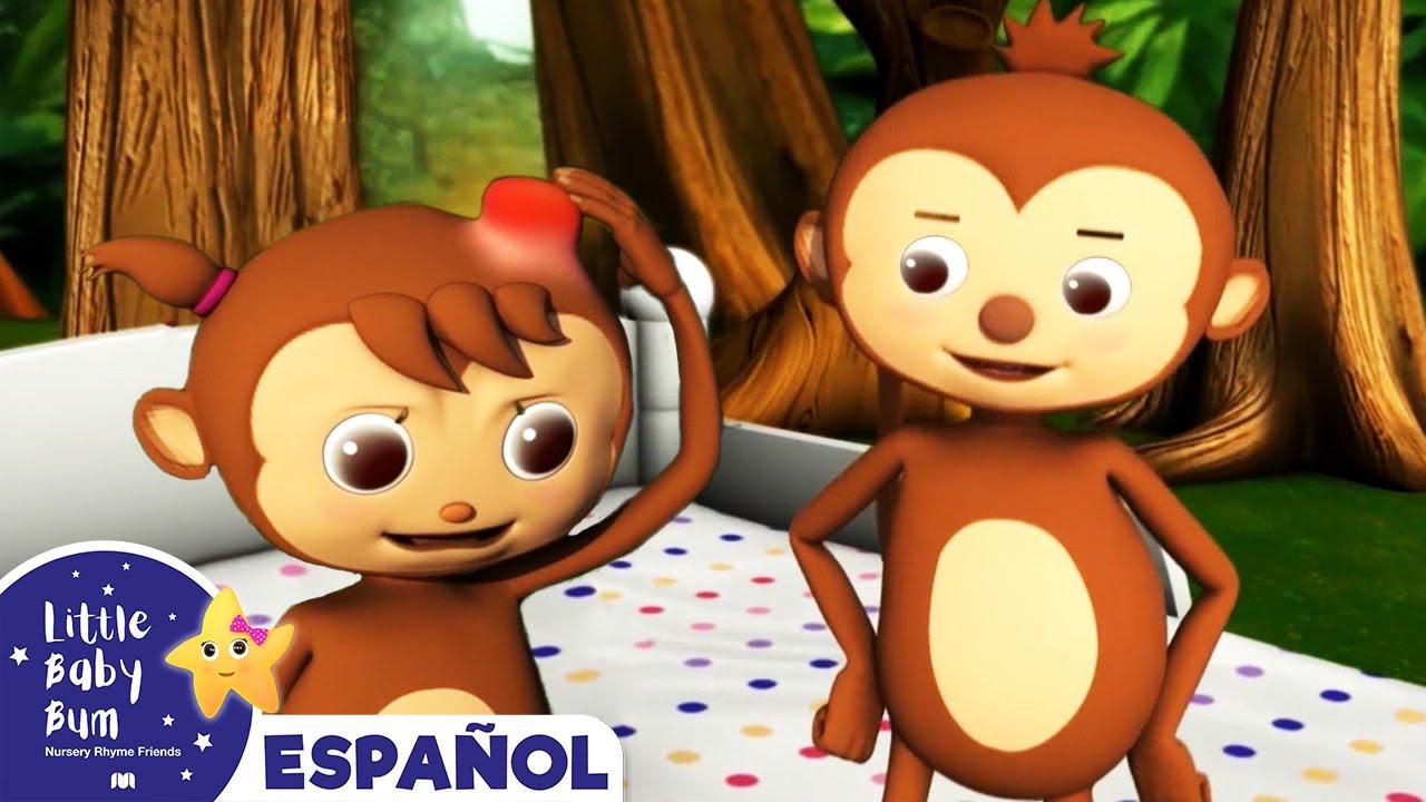 5 Monitos Saltando en la Cama | Canciones Infantiles | Dibujos Animados | Little Baby Bum Latino