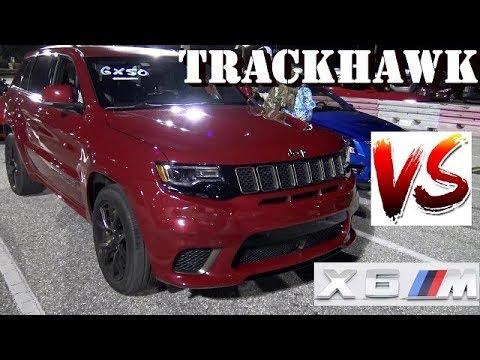 707 Hp Trackhawk Vs Bmw X6m Redlight 1 4 Mile Drag Race Roadtesttv Youtube