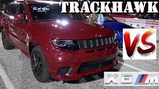 707 HP TRACKHAWK vs BMW X6M - Redlight !! -1/4 mile Drag Race - RoadTestTV ®