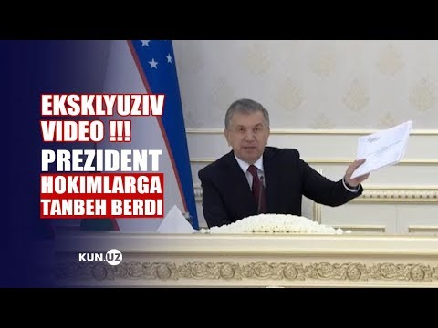 """BUZISHDAN AVVAL SEN OʻZ BOSHINGNI BUZ"". PREZIDENT VIDEOSELEKTORIDAN VIDEO"