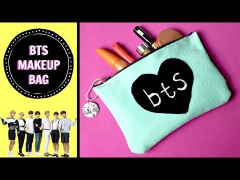 ►DIY KPOP MAKEUP BAG/BTS/NO SEW