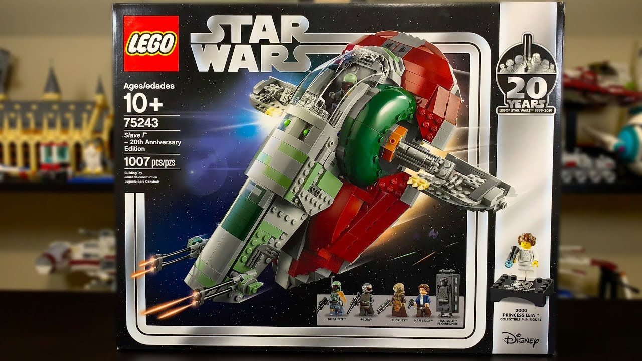 Lego Star Wars 2019 Slave 1 20th Anniversary Edition Review Set 75243