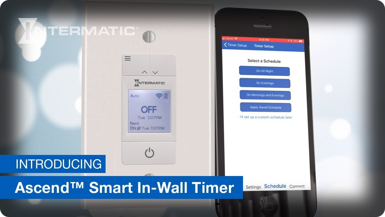 introducing the ascend smart in wall timer stw700w by intermatic [ 1280 x 720 Pixel ]